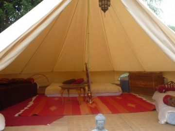 luxury bell tent for therapy sessions