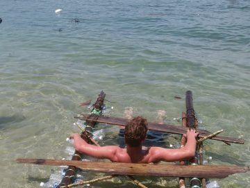 A raft build from driftwood... can this escape the island of Borneo?
