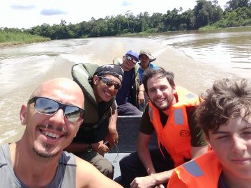 Travelling upstream in Borneo - some of the most remote places are only accessible by boat