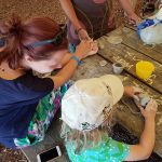 Creating clay coil pots at the Home Education Wild Gathering
