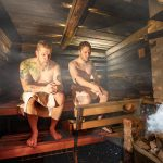 sauna spa relax and have a good time with friends