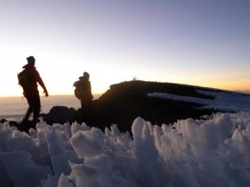 Kilimanjaro walk at sunrise
