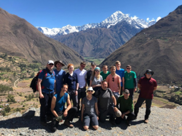 group photo of the Lares trail in Peru